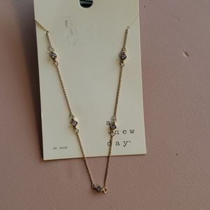 16 in fashion jewelry necklace with rhinestones